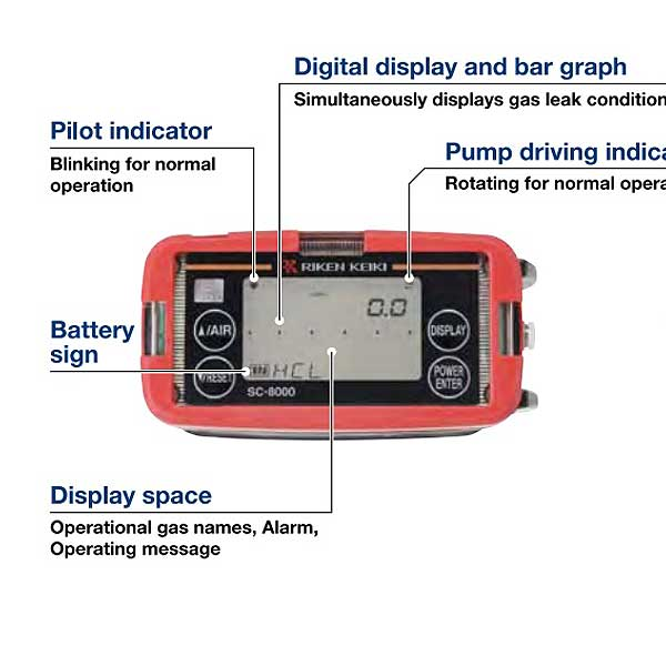 RKI Portable toxic gas monitor SC-8000