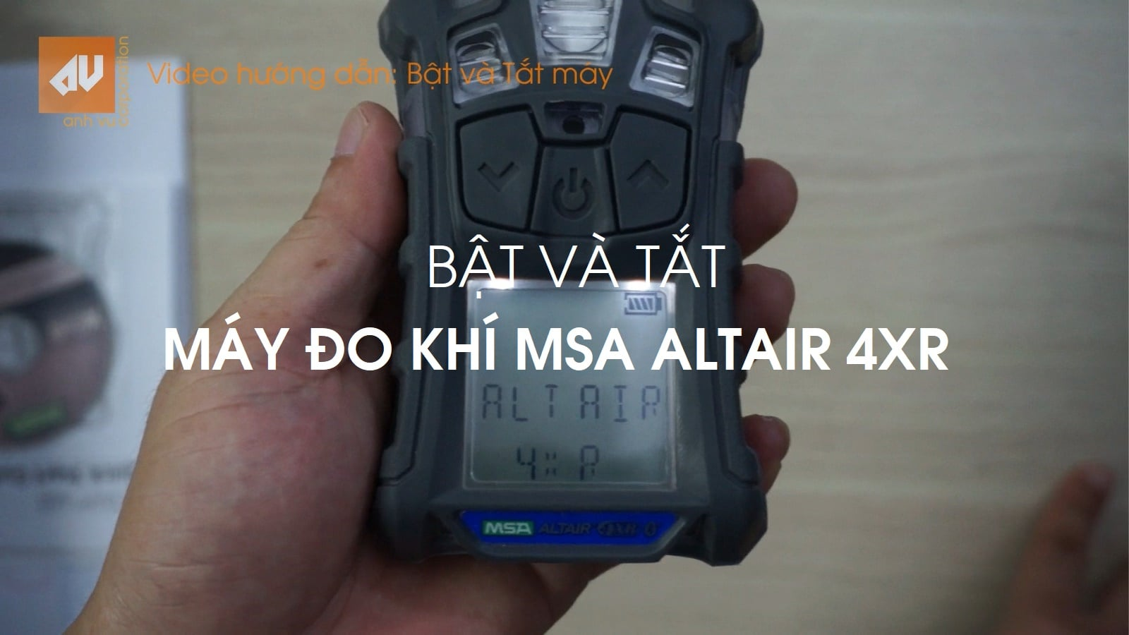 MSA Altair 4XR gas detector: Video 2 - Turn ON/OFF