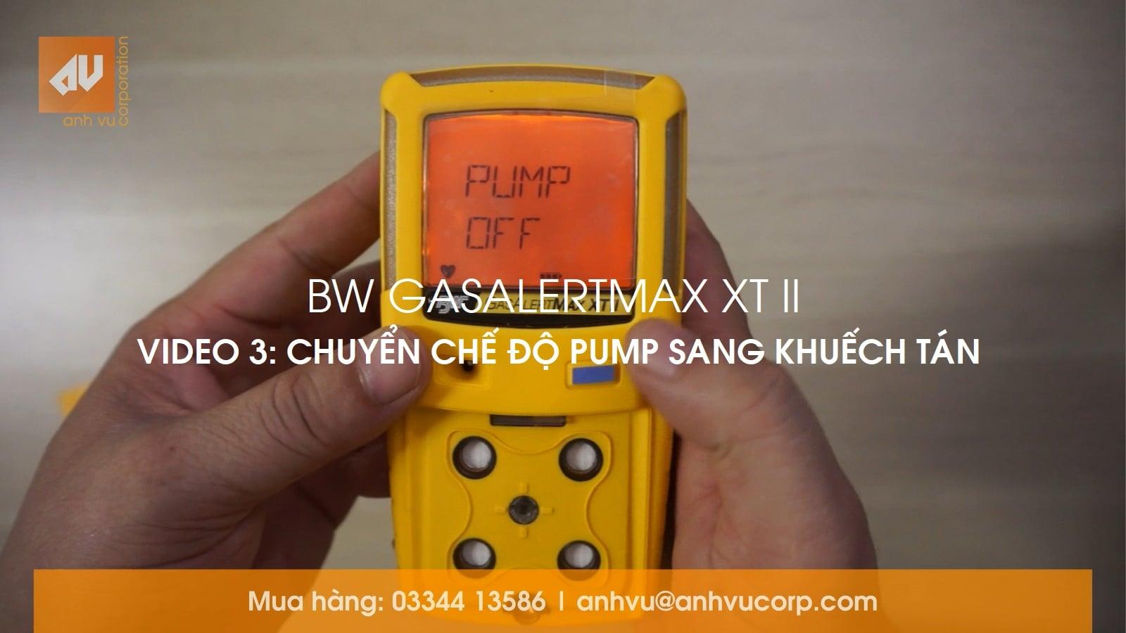 No.3 – Chế độ đo Bơm hút và Khuếch tán GasAlertMax XT II [EN: Pump OFF]
