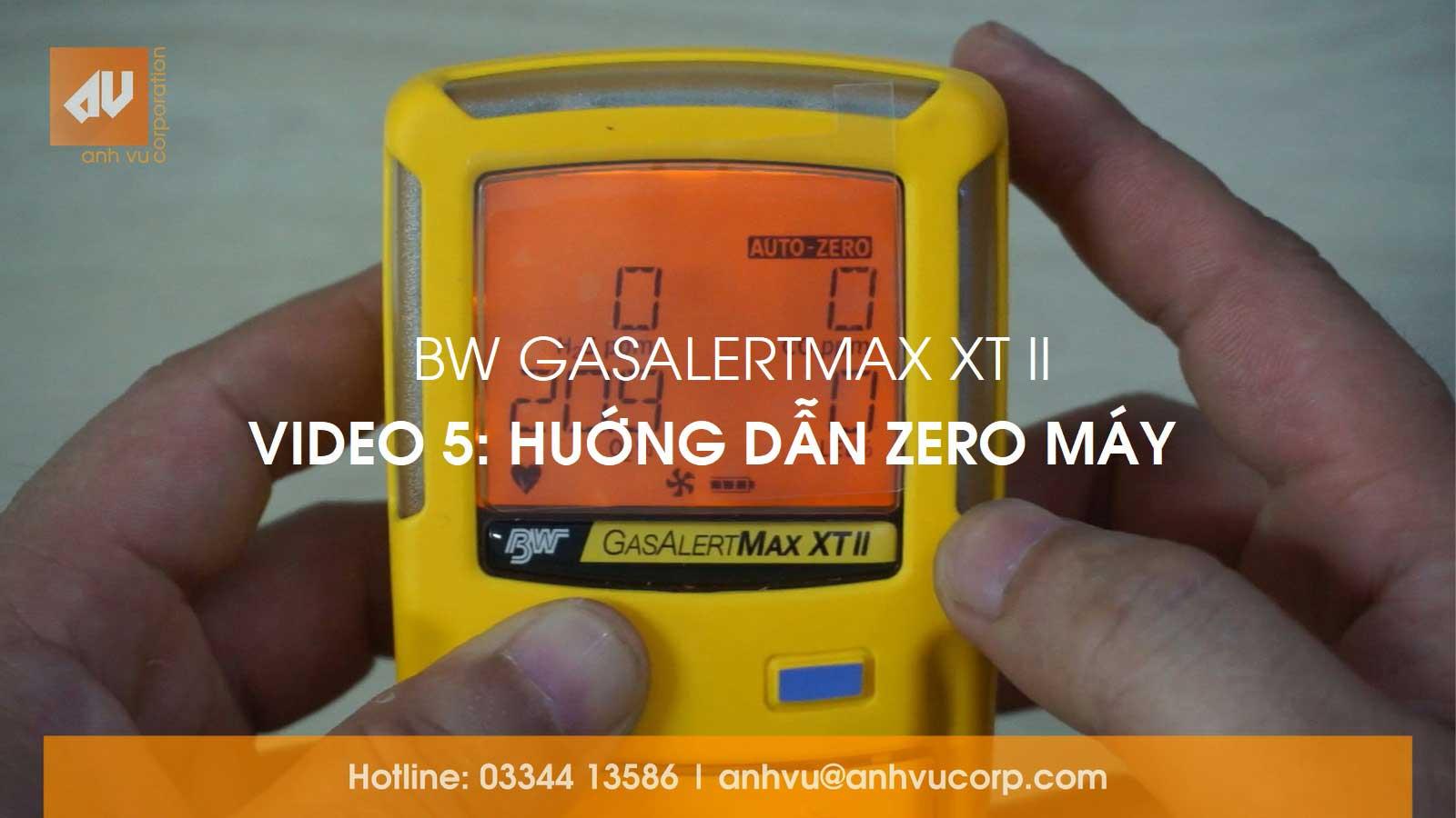 No. 5 – Zero máy đo khí GasAlertMax XT II