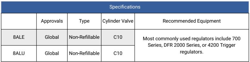 Calgaz 8AL Specifications